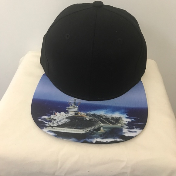 MEN'S SNAPBACK HAT MILITARY AIRCRAFT CARRIER PRINT